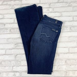 7 For All Mankind Dark Wash Bootcut Jeans Sz 26